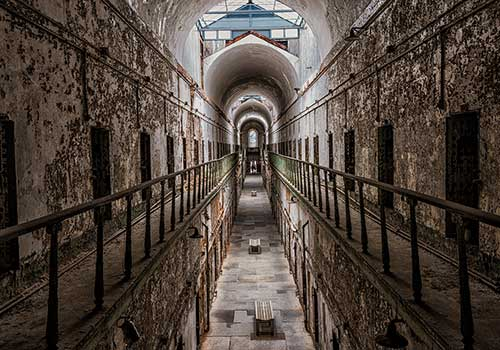 The Eastern State Penitentiary in Philadelphia is one of the most haunted places in America
