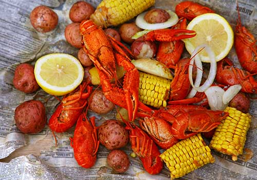 Crawfish boil off the Gulf Coast
