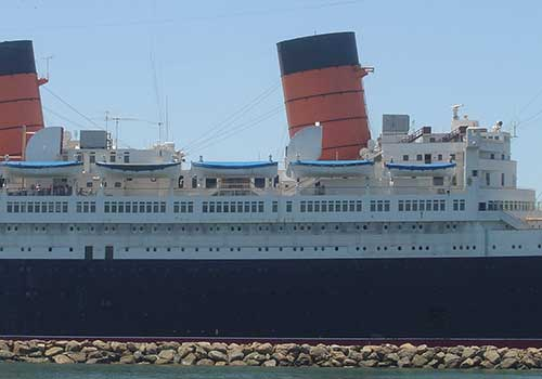 The RMS Queen Mary is said to be one of the most haunted places in America. If you're brave enough, you can book a room in this floating hotel, located in Long Beach, California.