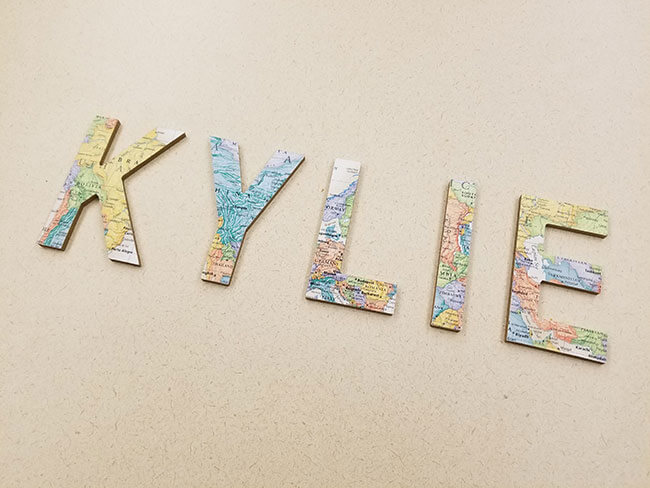 Map Crafts: DIY Decorative Letters