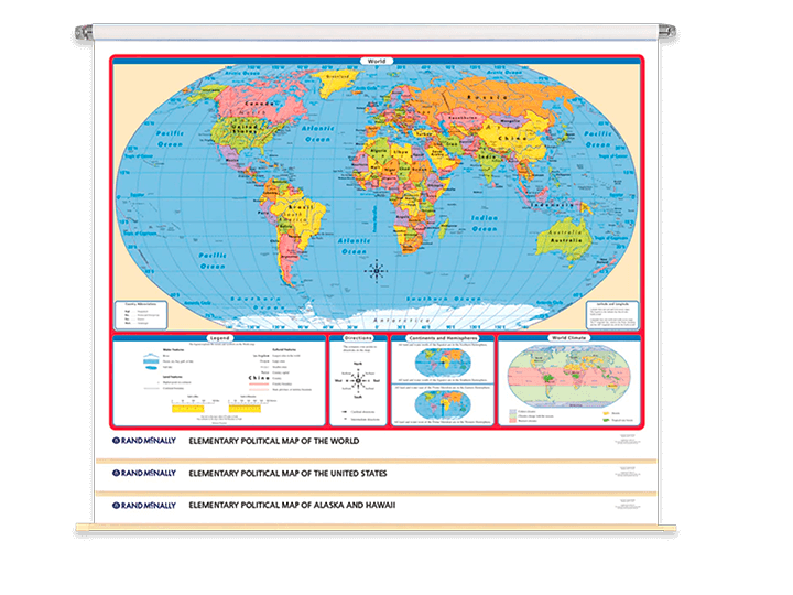 EDUCATIONAL POSTER World Map Historical