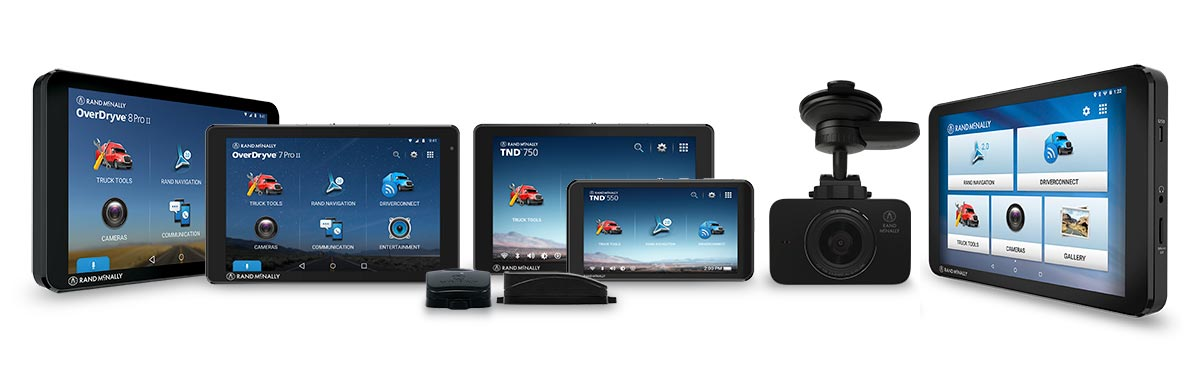 Rand McNally fleet devices with truck navigation software