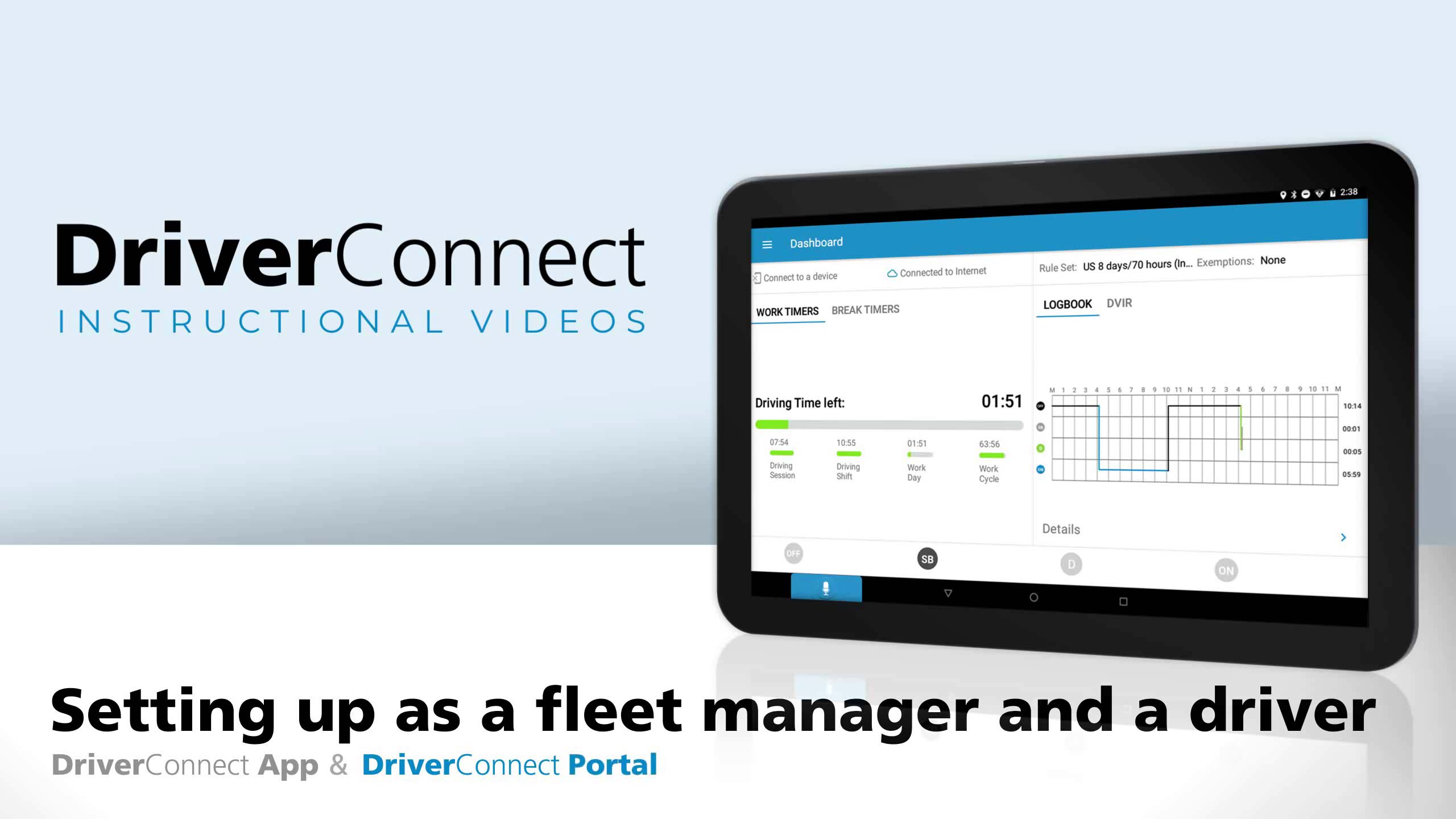 DC App & Portal Setting up as a fleet manager and a driver