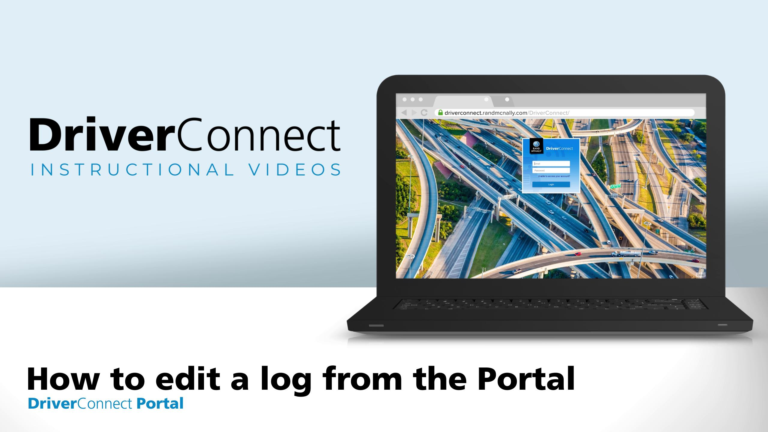 DC Portal Tutorial How to edit a log from the Portal