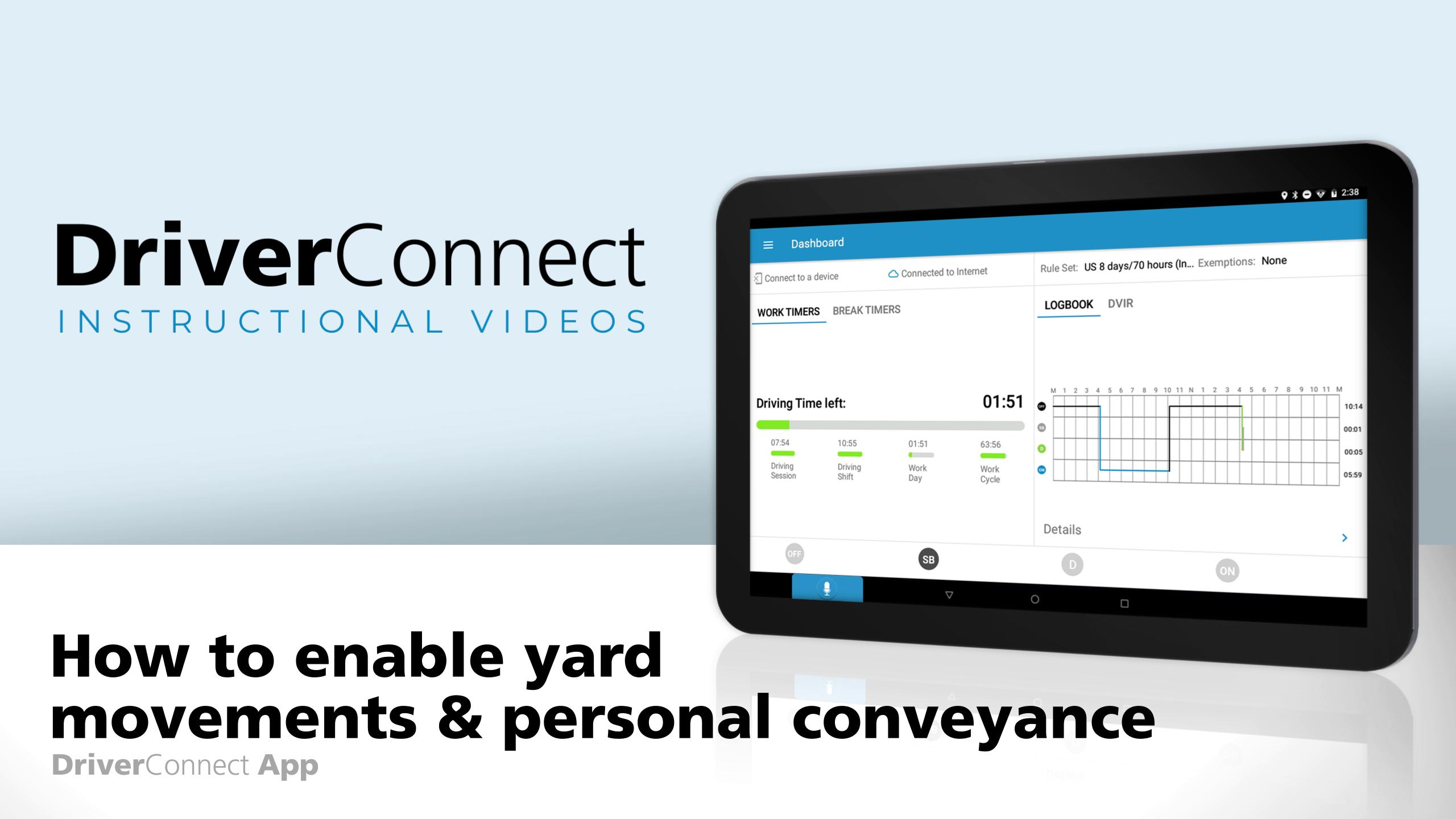 DC App How to enable yard movements and personal conveyance