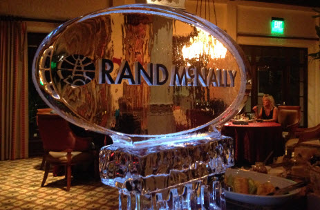 Rand McNally Logo in Ice at ATA