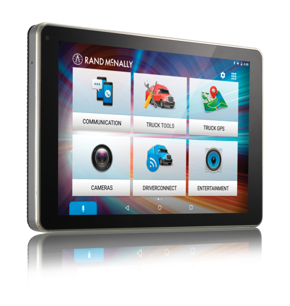 Truck gps navigation and routing designed by Rand McNally